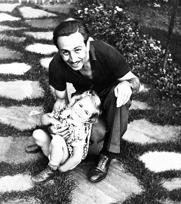 Diane Disney Miller with her father Walt Disney