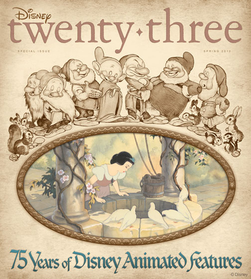 The Spring issue of Disney twenty-three magazine