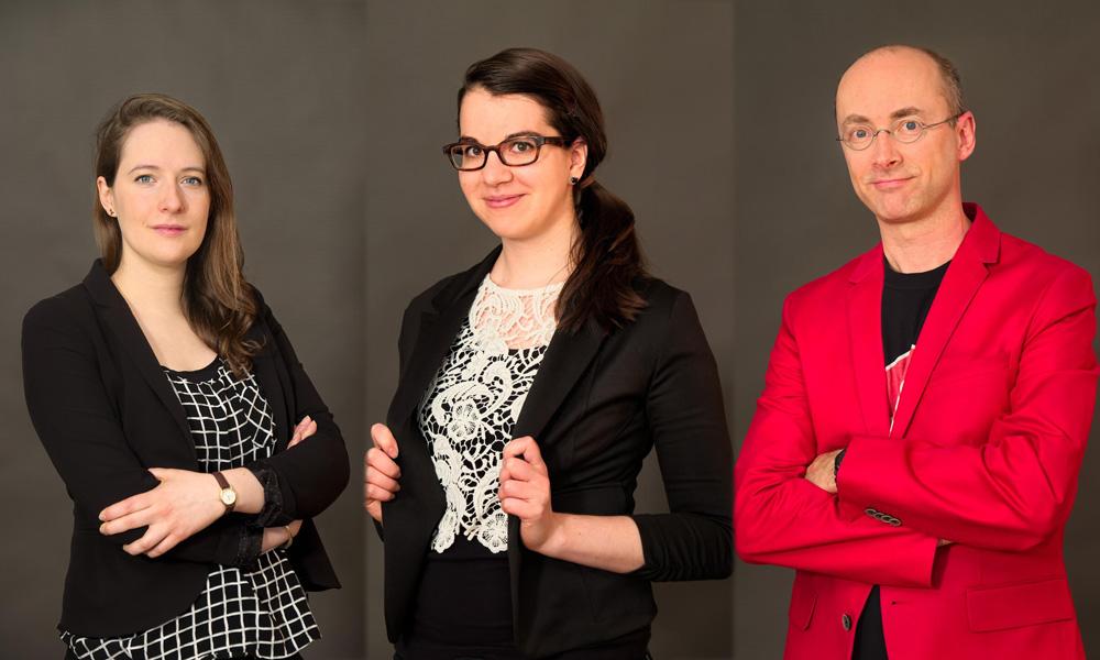 Dominique Côté, Marie Valade, and Erik Goulet