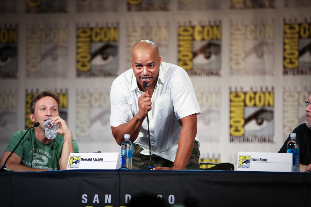 Actor/creator Donald Faison embodies the character of Alabama Jackson for the first time at San Diego Comic-Con.