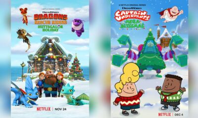 Dragons Rescue Riders Huttsgalor Holiday, and Captain Underpants: MegaBliss Christmas