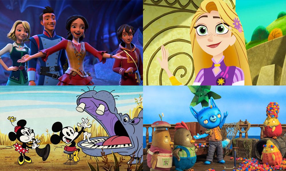 Elena of Avalor / Rapunzel's Tangled Adventure / Disney Mickey Mouse / Tumble Leaf