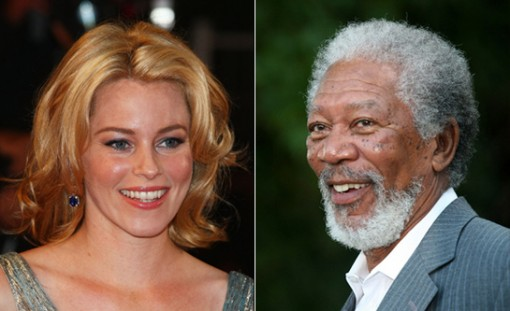 (from left) Elizabeth Banks and Morgan Freeman