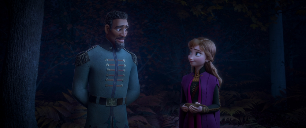 Sterling K. Brown voices Lt. Destin Mattias, sworn protector of Arendelle (and longtime enchanted forest prisoner) in 'Frozen 2'