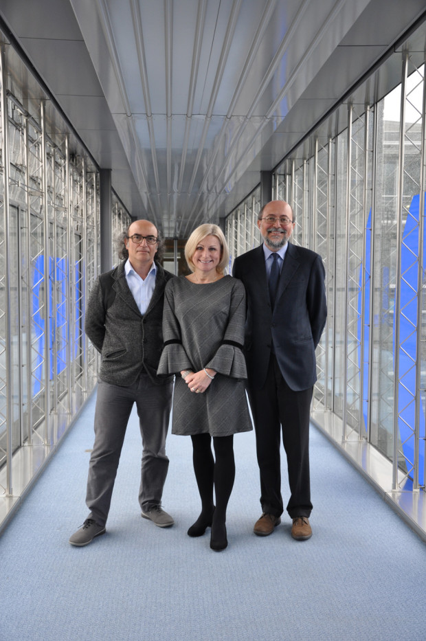 2018 EBU Children & Youth Media Experts Group officials: (L-R) Deputy Yago Fandino Lousa, Deputy Vanessa Amberleigh, Chairperson Luca Milano.