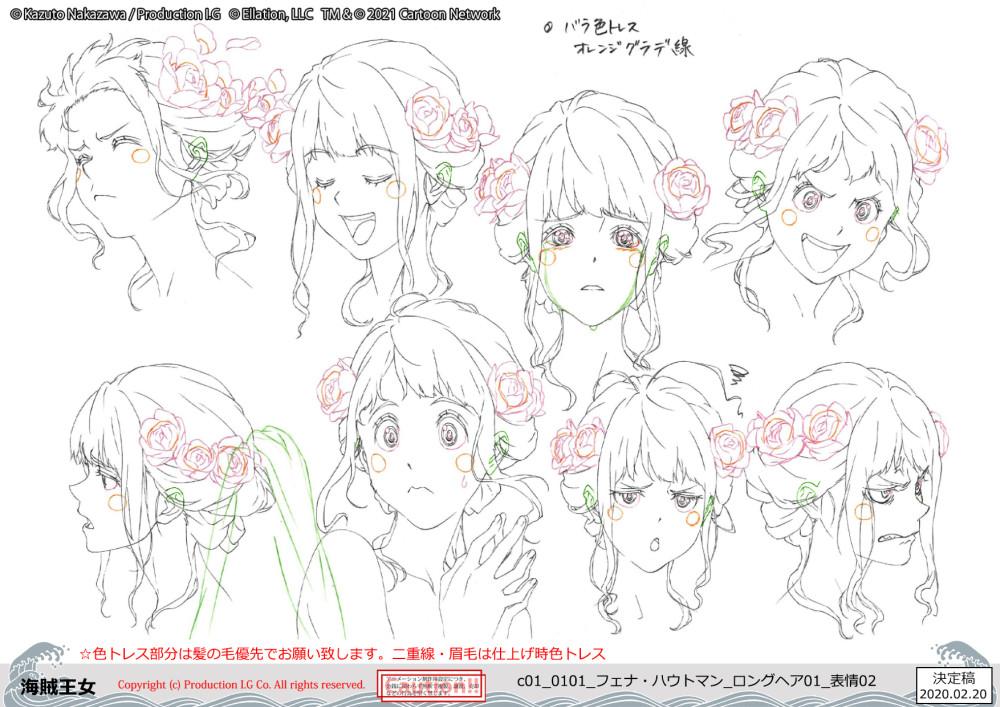 Fena facial reaction sketches