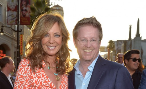 Allison Janney and Andrew Stanton at the premiere of Finding Nemo 3D at the El Capitan Theater in Hollywood