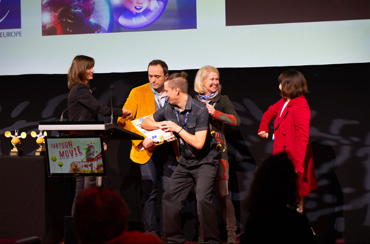 The producer of the movie Fleak received the Euroimages co-pro development prize .(C) Galia Prod