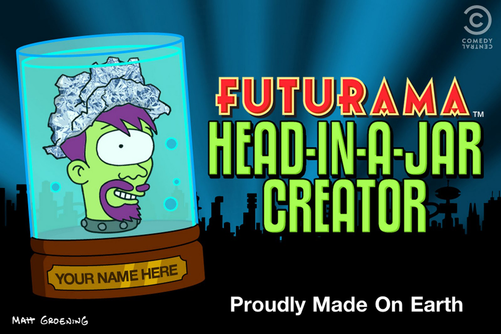 groening launches 39 futurama 39 head in a jar app animation