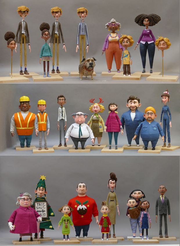 """Characters"" - All figures featuring in the three-minute advertisement film have 3D printed facial expressions (Photo: Business Wire)"