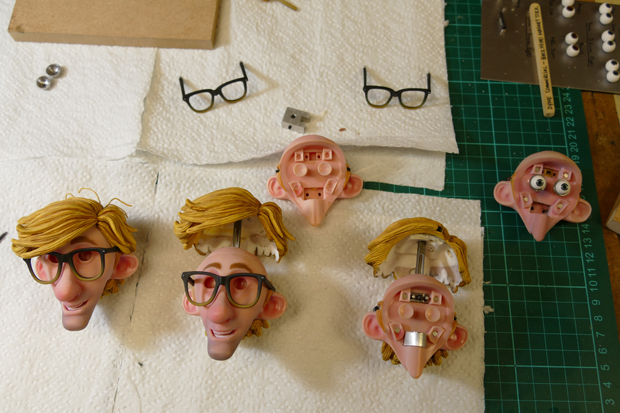 """Faces"" - The 3D printed faces for each character expression had finished full-color capabilities, ready to be assembled with hairpieces and accessories (Photo: Business Wire)"
