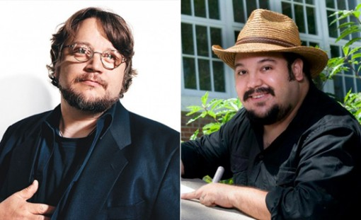 (from left) Guillermo del Toro and Jorge R. Gutierrez