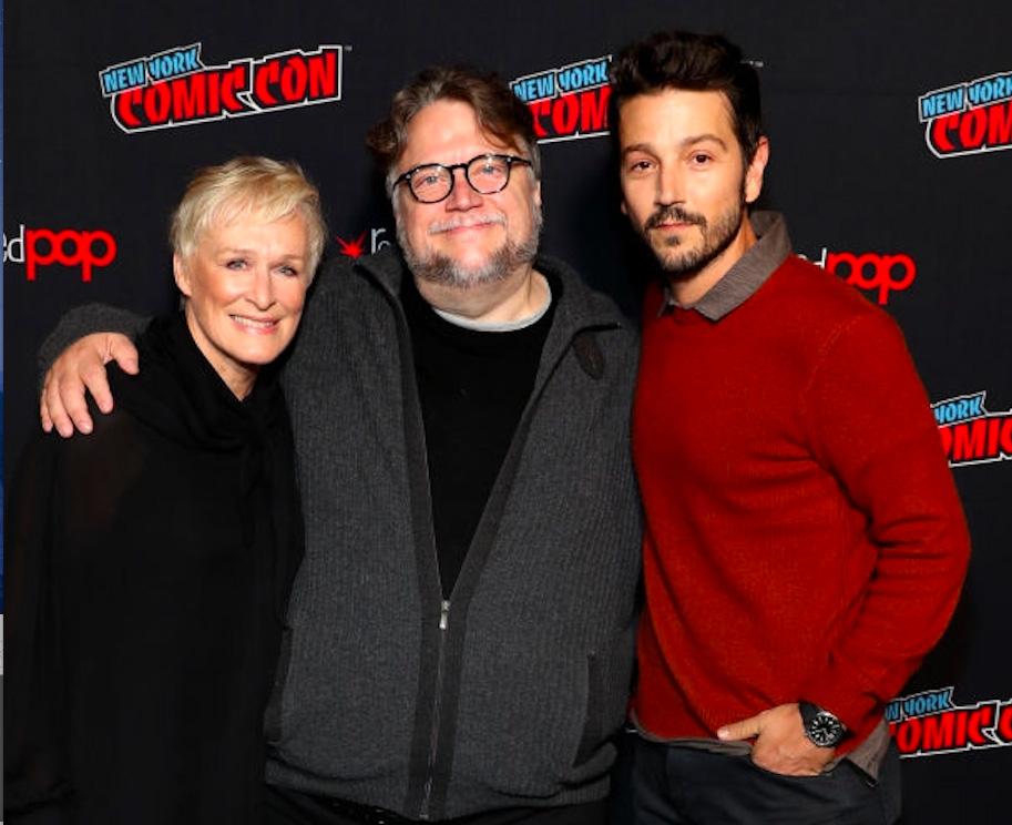 Guillermo del Toro with Glenn Close and Diego Luna