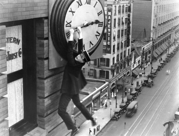 Harold Lloyd in SAFETY LAST! Courtesy of the Harold Lloyd Estate