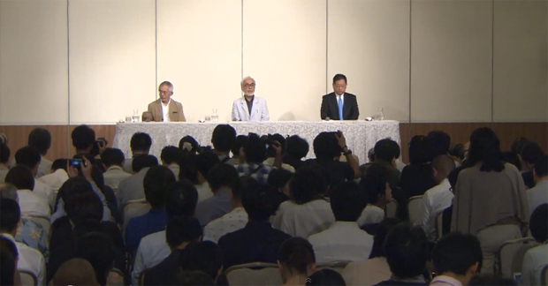 Hayao Miyazaki confirms his retirement at a press conference
