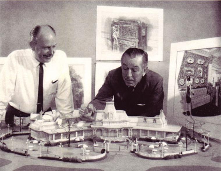 John C. Hench and Walt Disney