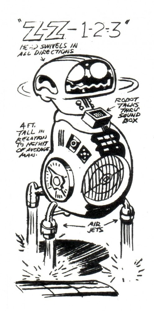 "Herbie ""the Kirby"" Robot, by Jack Kirby, 1979."