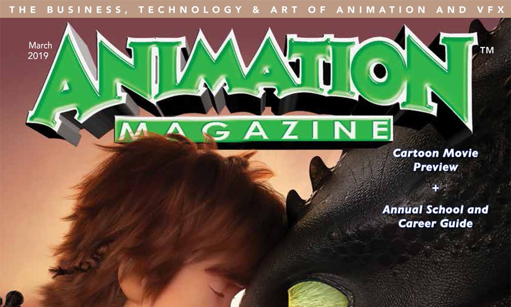 Battle Angel ANIMATION Magazine March 2019 How To Train Your Dragon /& ALITA