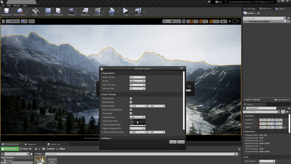 Unreal Engine USD and Alembic support (beta)