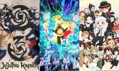 JUJUTSU KAISEN, Re:ZERO -Starting Life in Another World-, Bungo Stray Dogs Wan!