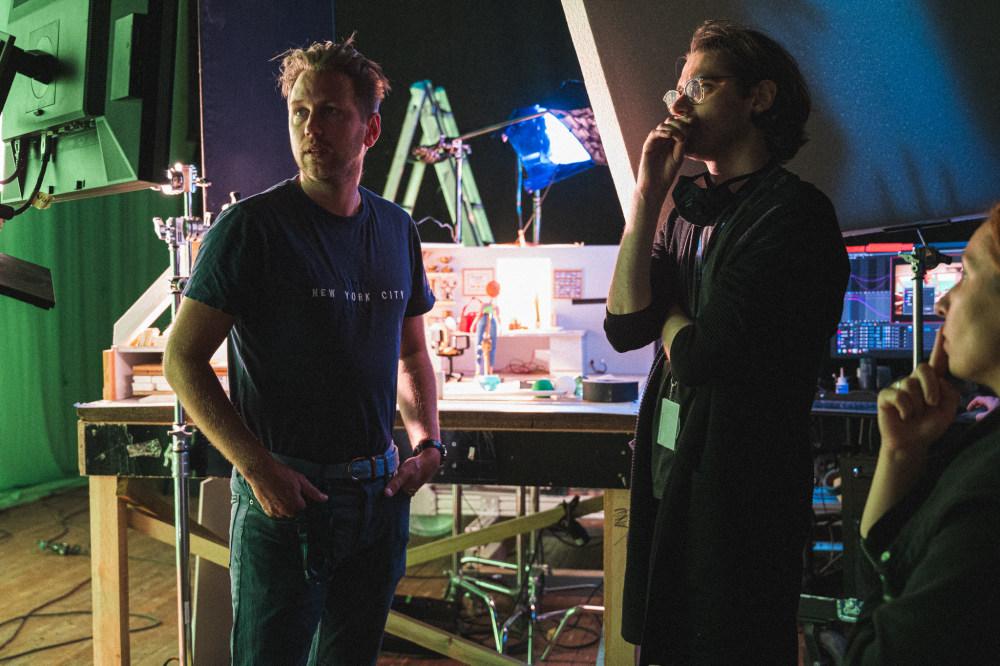 Director of photography Jan Pawel Trzaska and director Michael Lubinski on set at CeTA.