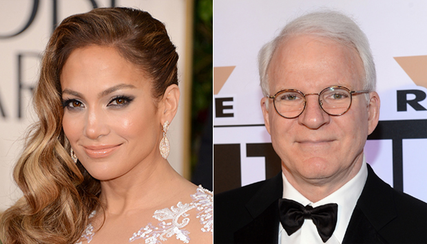 (from left) Jennifer Lopez & Steve Martin