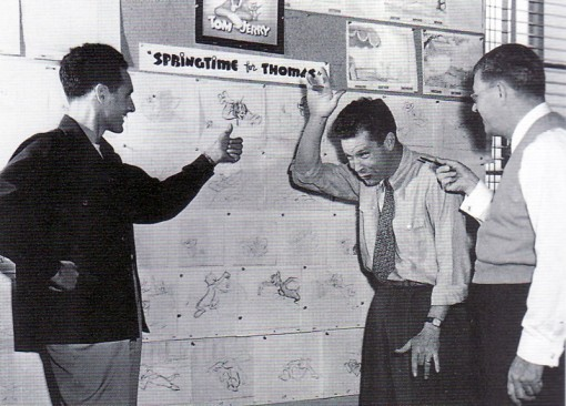 (from left) Joe Barbera, Bill Hanna and Fred Quimby