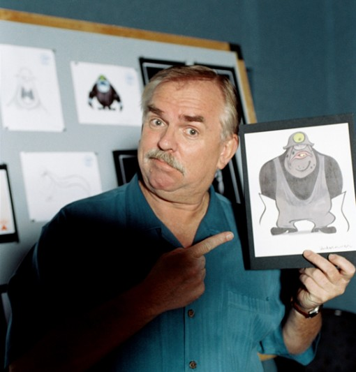 John Ratzenberger with a rendering of The Underminer