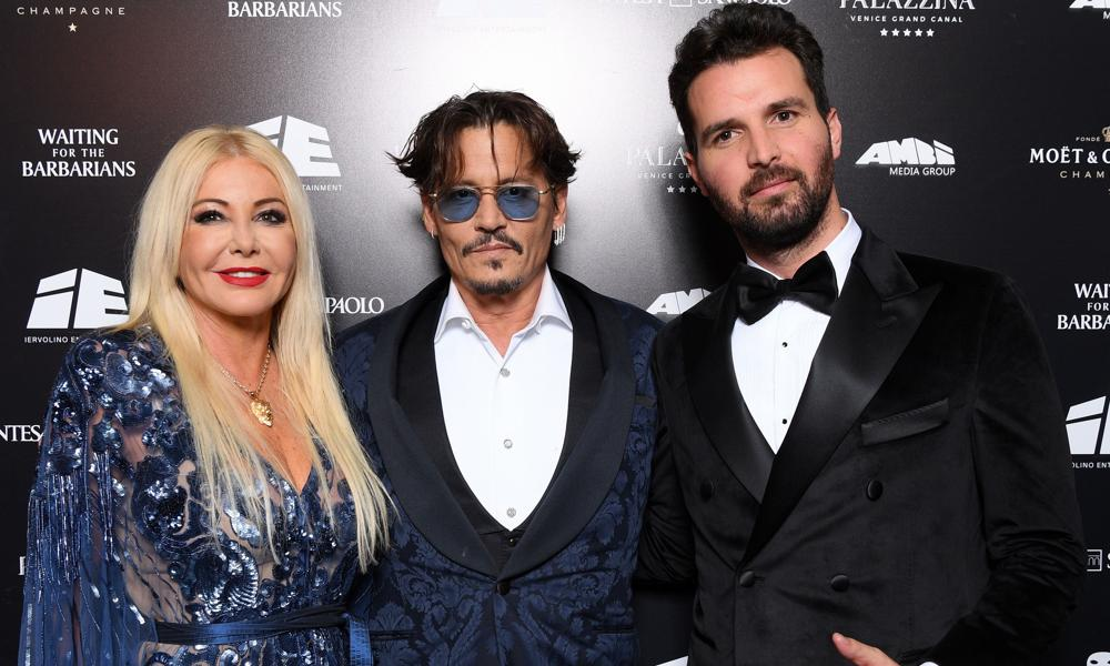 Monika Bacardi, Johnny Depp, and Andrea Iervolino