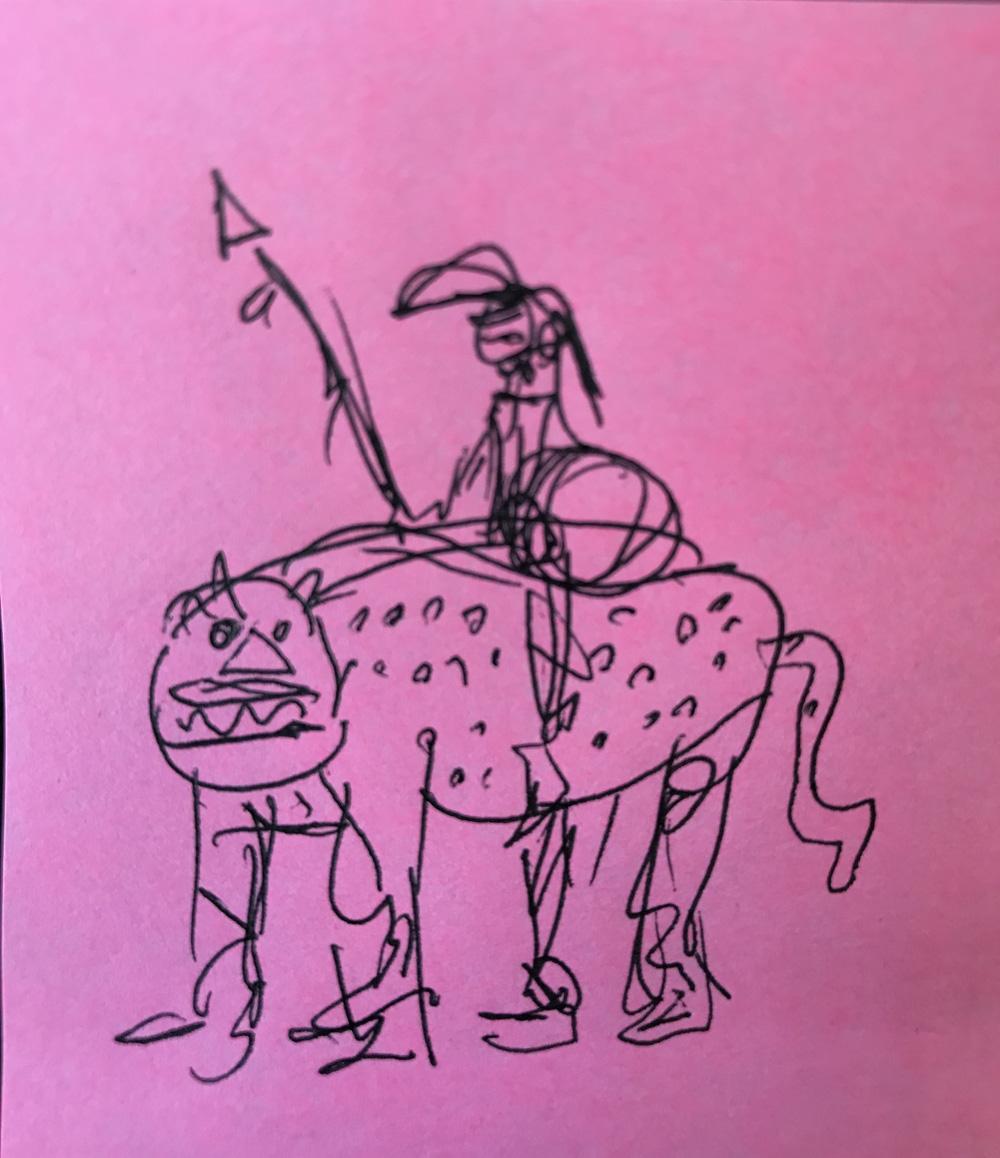 Sketch of Maya and Chiapa by Jorge Gutiérrez