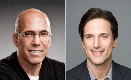 (from left) Jeffrey Katzenberg and Bill Damaschke
