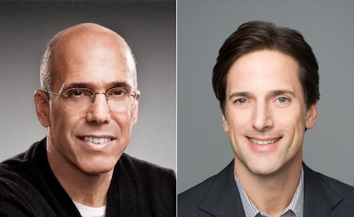 (from left) Jeffrey Katzenberg and Bill Damaschke