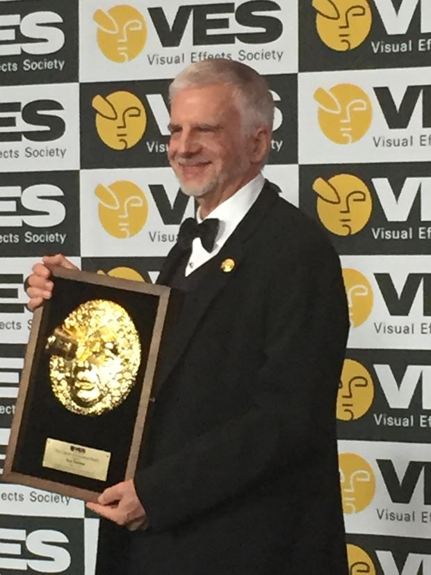 Ken Ralston backstage with his Lifetime Achievement Award