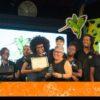 Kenia Mattis (center) and the ListenMi crew, Best Concept winners at KingstOOn 2019.