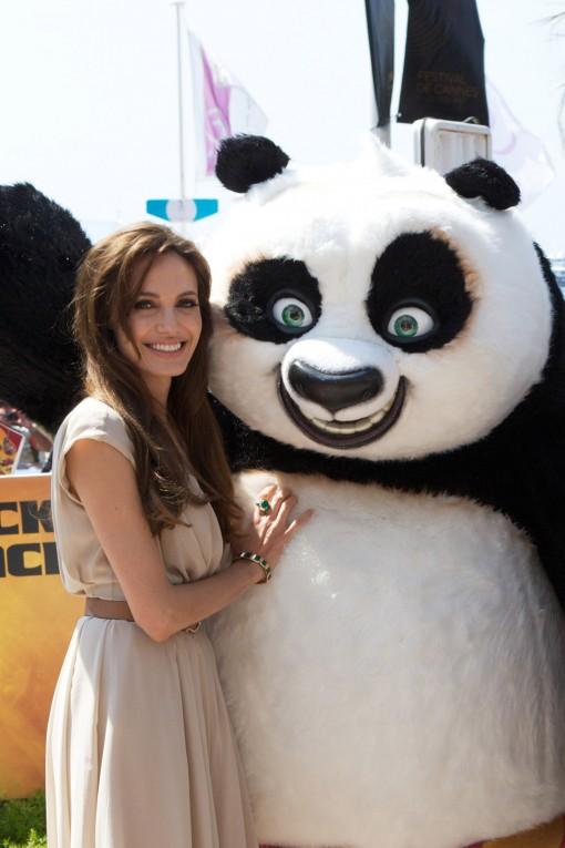Angelina Jolie and Kung Fu Panda