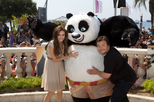 Angelina Jolie and Jack Black attended a press confab at the Carlton Hotel Cannes