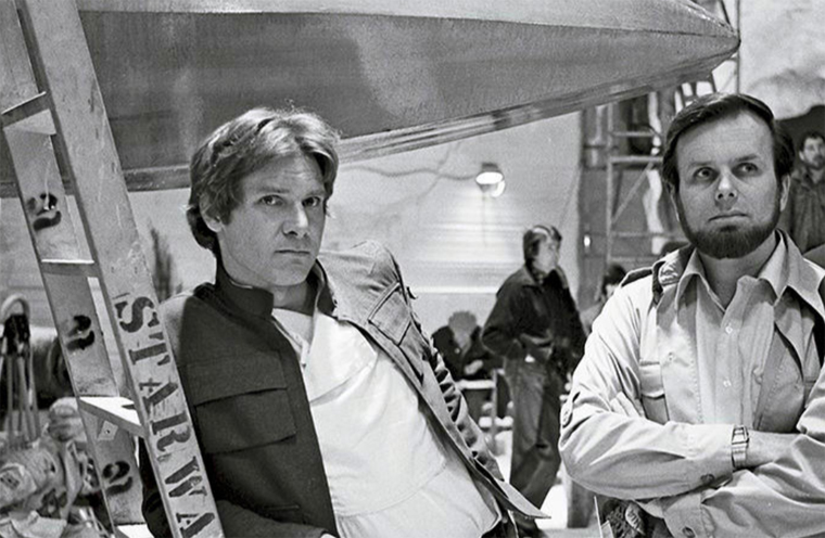 Gary Kurtz with Harrison Ford