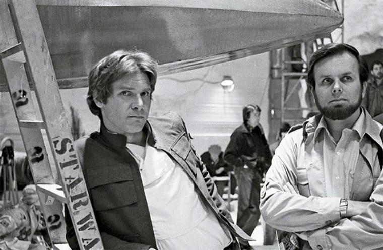 Gary Kurtz with Harrison Ford