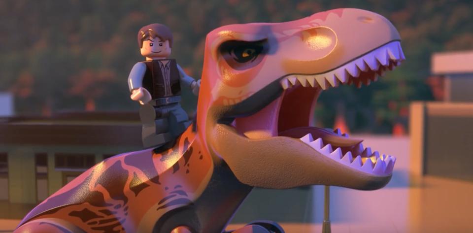 universal lego hatch 'jurassic world' product  animation