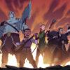 L-R: Percival de Rolo, Pike Trickfoot, Grog Strongjaw, Scanlan Shorthalt, Keyleth, Vax'ildan and Vex'ahlia in The Legend of Vox Machina [Amazon Prime Video]