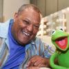 Laurence Fishburne and Kermit the Frog