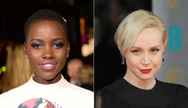 (from left) Lupita Nyong'o and Gwendoline Christie