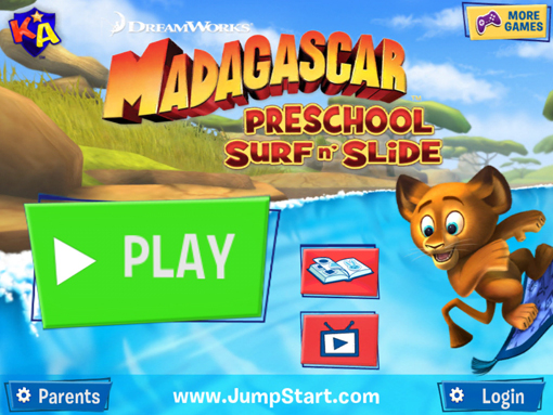 Madagascar Preschool Surf'n Slide