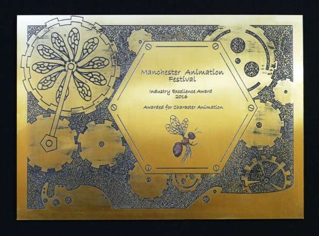 Manchester Animation Festival Certificate for Character Animation