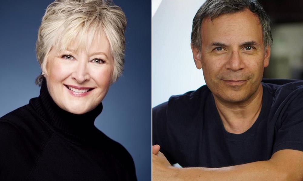 Margaret Loesch and David Happs