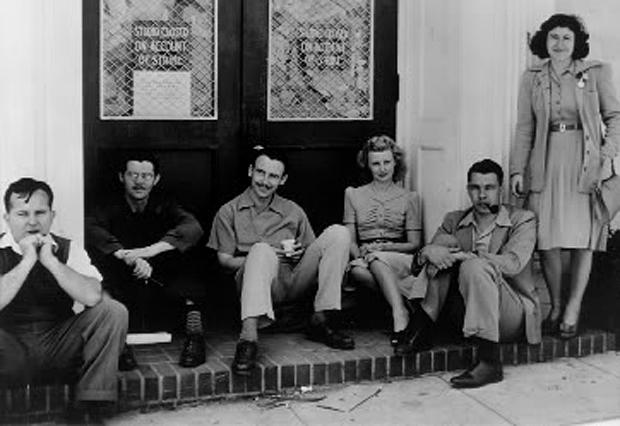 Martha Goldman Sigall (far right)