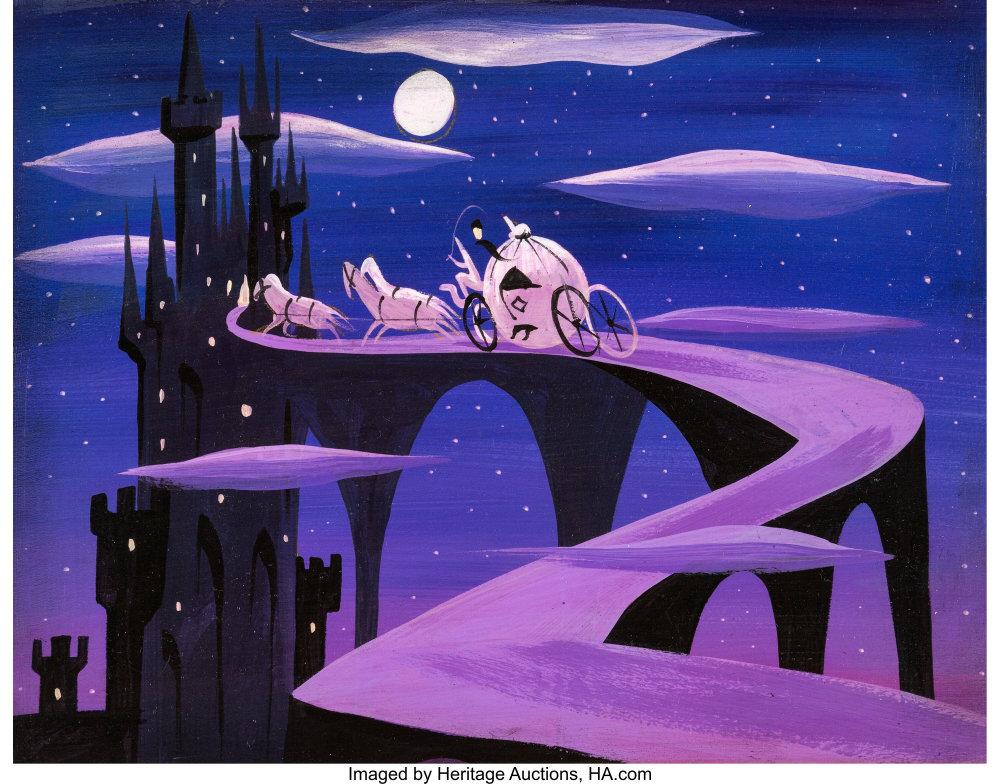 Cinderella Magic Coach Concept Painting