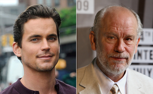 (from left) Matt Bomer and John Malkovich