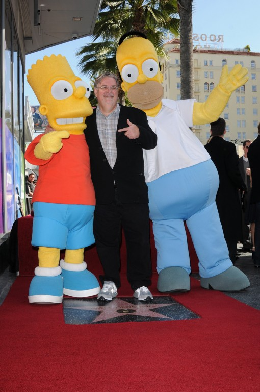 Executive Producer Matt Groening is presented his  Star on the Hollywood Walk of Fame Tuesday, Feb. 14 in Hollywood, CA. THE SIMPSONS © 2012 TCFFC ALL RIGHTS RESERVED. CR: Scott Kirkland/FOX
