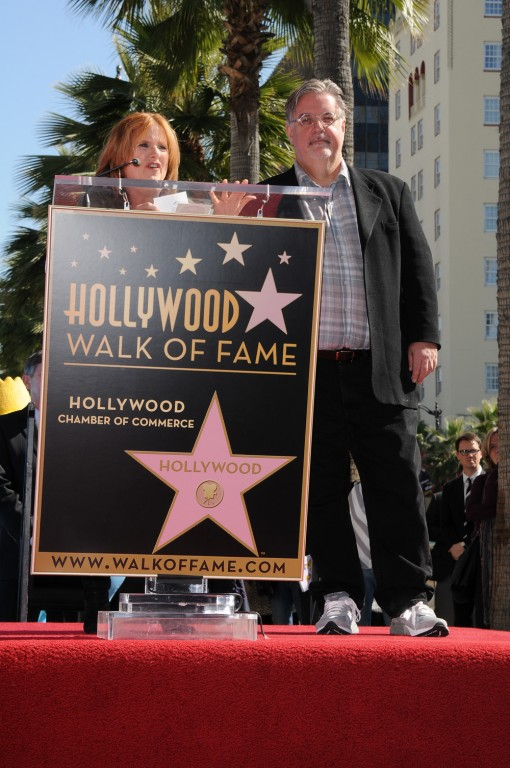 Cast Member Nancy Cartwright says a few kind words about THE SIMPSONS Creator and Executive Producer Matt Groening during the Star Dedication on the Hollywood Walk of Fame Tuesday, Feb. 14 in Hollywood, CA. THE SIMPSONS © 2012 TCFFC ALL RIGHTS RESERVED. CR: Scott Kirkland/FOX